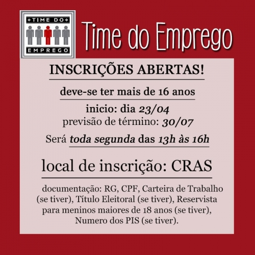 PROGRAMA TIME DO EMPREGO